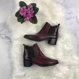 Leather burgundy Nordstrom Hispanitas booties